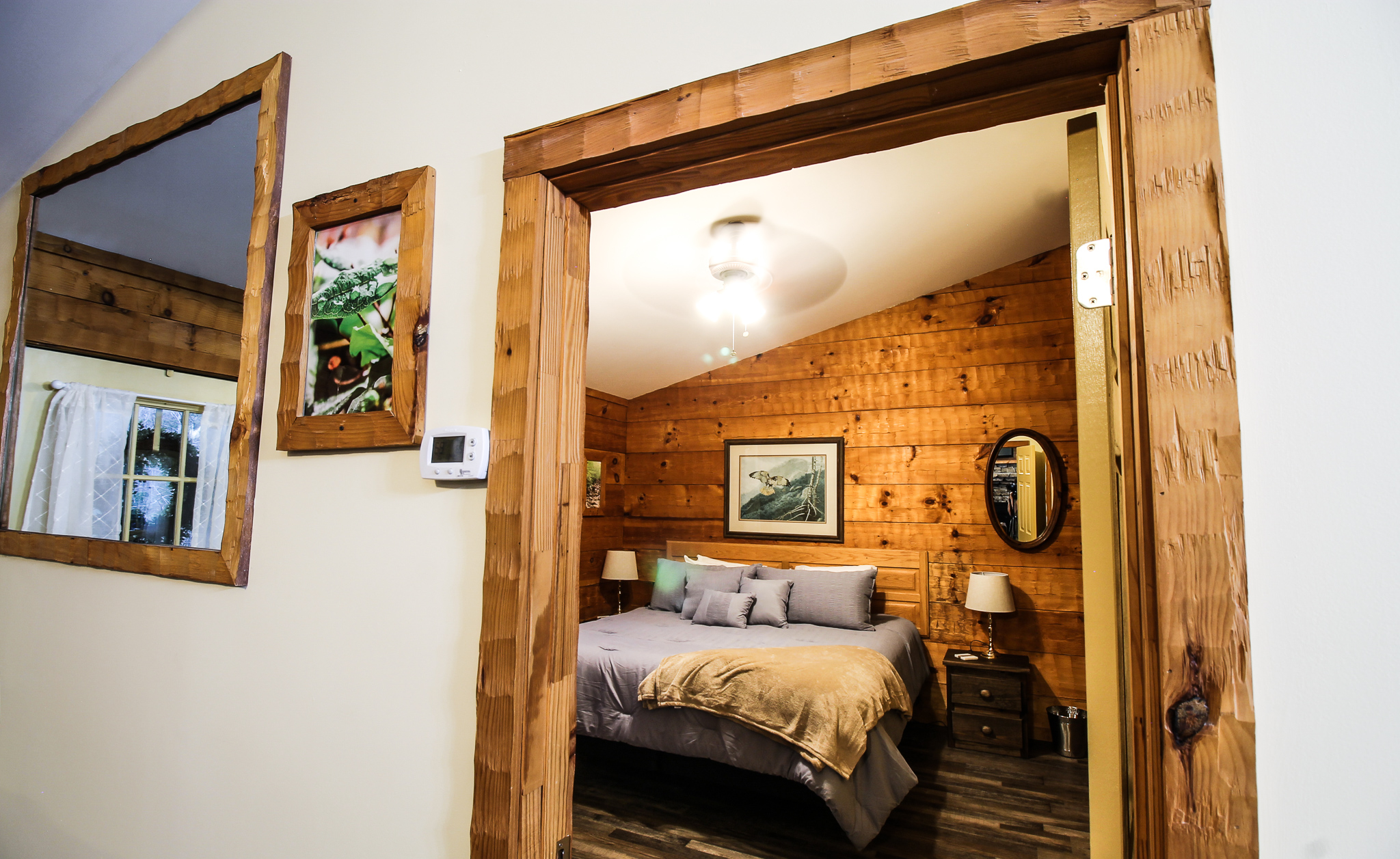 Cabin renovation | restored wood features